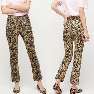 J. Crew Kickout Crop Pant In Leopard Print Size 28